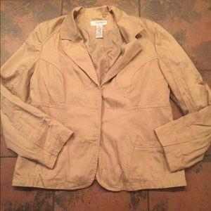 Sag harbor jacket blazer size 14 stretch
